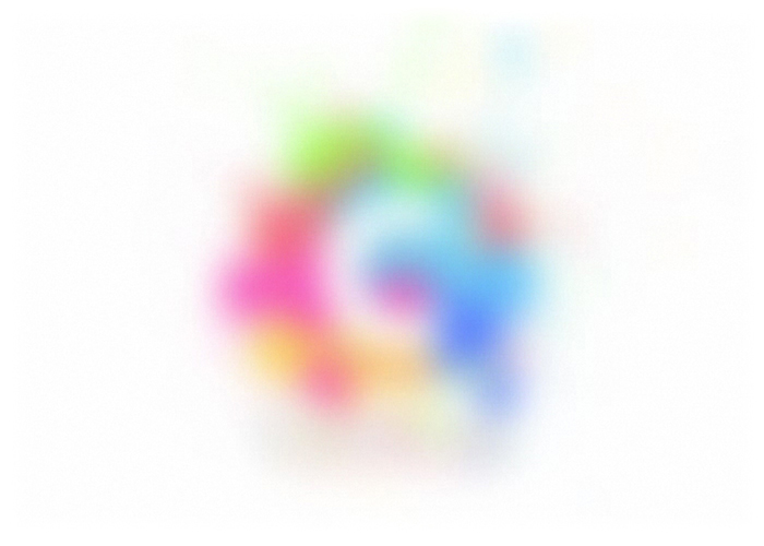creative digital logo blur